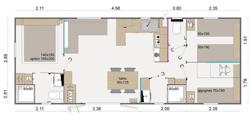 La Résidence Du Lac Implantation Lodge 100 Zoom 84