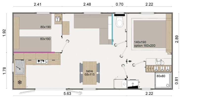La Résidence Du Lac Implantation Lodge 77 Zoom 91